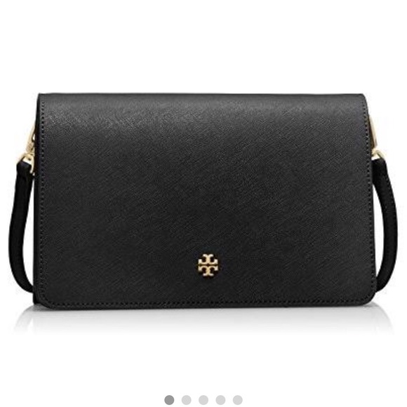 Tory Burch York Combo crossbody. saffiano leather.